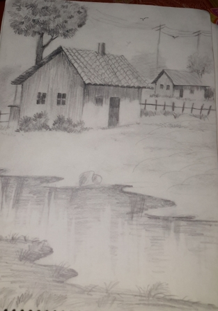 Village sketch- Classic!