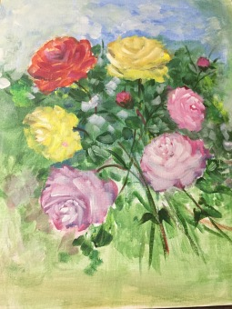 Raindrops on roses... canvas art