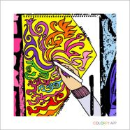 Abstract art coloured with COLORFY
