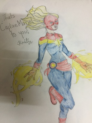 Captain Marvel (fan art)